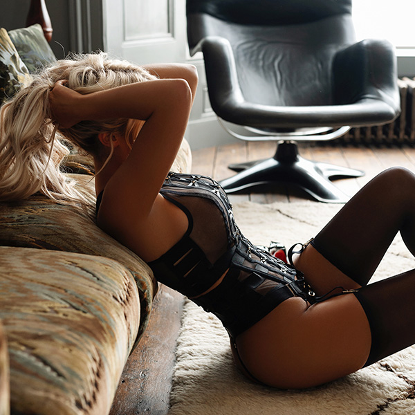 Back in black! Looking mighty fine in black Honey Birdette lingerie.